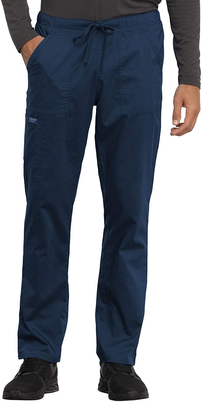 CHEROKEE Workwear WW Revolution Unisex Unisex Tapered Leg Drawstring Pant, WW020, S, Navy