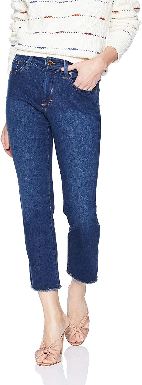 NYDJ Women's Petite Size Sheri Slim Ankle with Fray Hem Jean