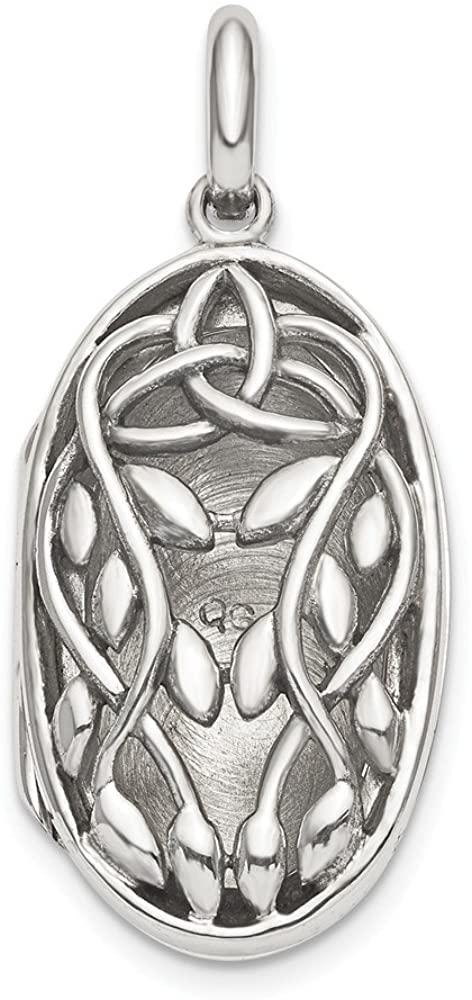 Beautiful Sterling silver 925 sterling Sterling Silver Antiqued Filigree Locket Pendant