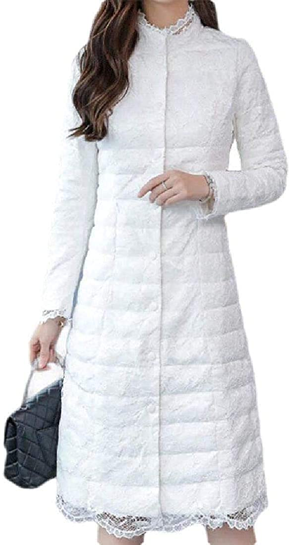 Kghsdydgy Women Coat Casual Padded Quilted Slim Fit Buttons Pockets Down Jacket