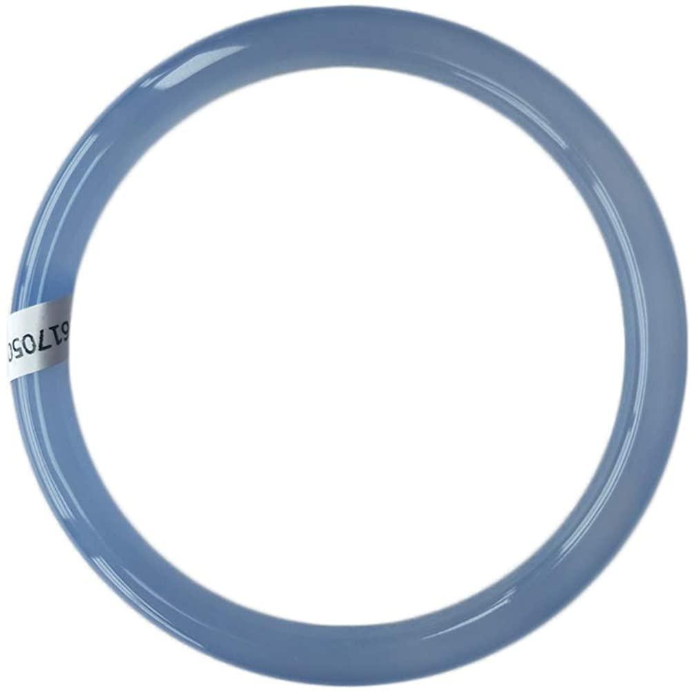 XC-121 Blue Agate Round Jade Bangle Bracelet for Women