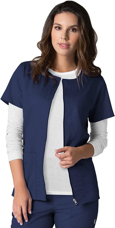 EON Maevn Women's Back Mesh Panel Short Sleeve Zip Front Jacket(True Navy, X-Small)