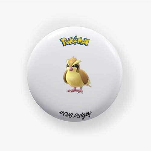 Pidgey #016 : Go, Pinback Button Badge 1.50 Inch (38mm)