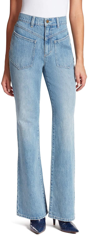 VANDERBILT Women's Chrissie High Rise Flare Patch Pocket Jean