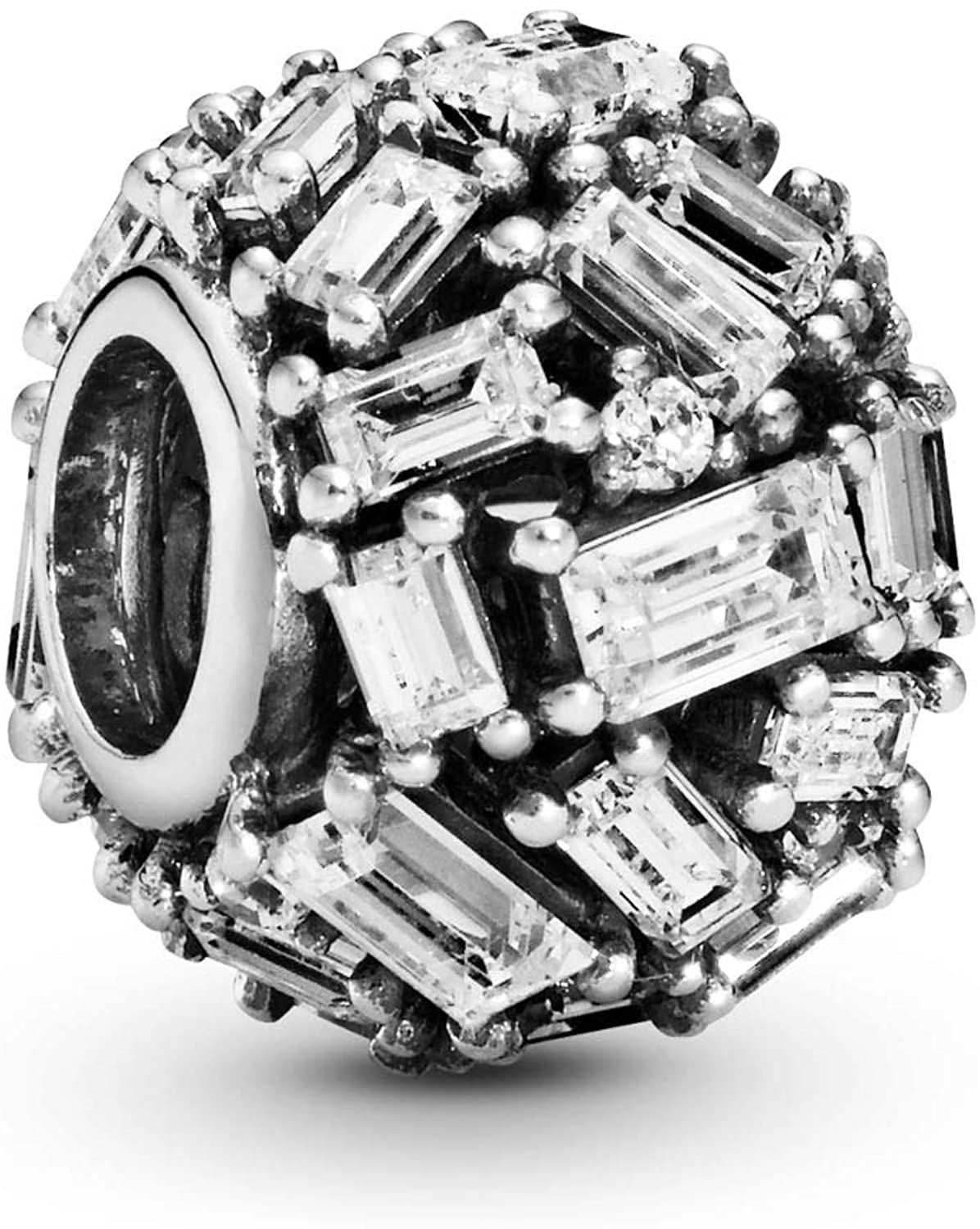 Pandora Jewelry Clear Ice Cube Cubic Zirconia Charm in Sterling Silver
