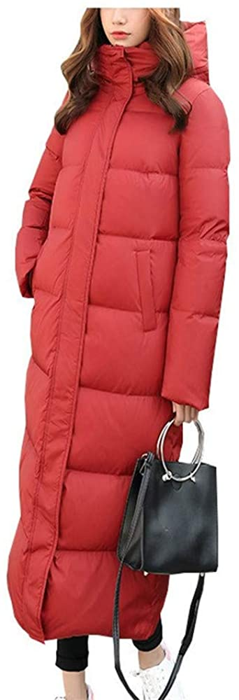 Dotoo White Duck Down Women Winter Fashion Thick Warm Hooded Slim Long Down Jacket Coat