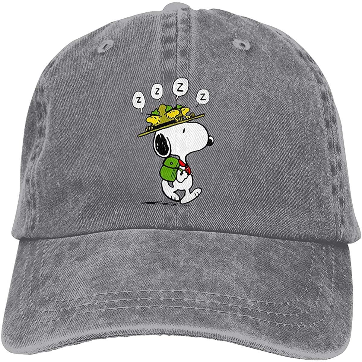 KURITIAN Snoopy Lightweight Quick Dry Breathable Baseball Cap Outdoor Run Cap Fashion Tide Cap Casual Sun Hat Adjustable Classic Sports Hat Grey