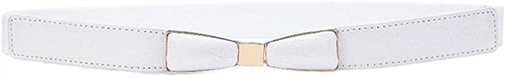 VOCHIC Womens Stretch Skinny Belt for Dress PU Leather Ladies Thin Bow Belt