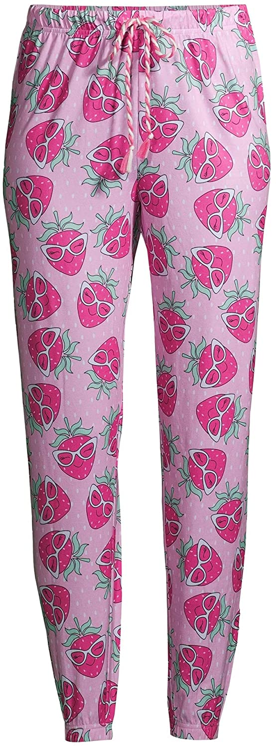 Strawberry in Sunglasses Completely Pink Easy Comfort Jogger Sleep Pants