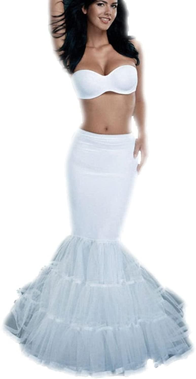 Dreamdress Women's Trumpet Mermaid Crinoline Wedding Petticoat Bridal Underskirt Slip