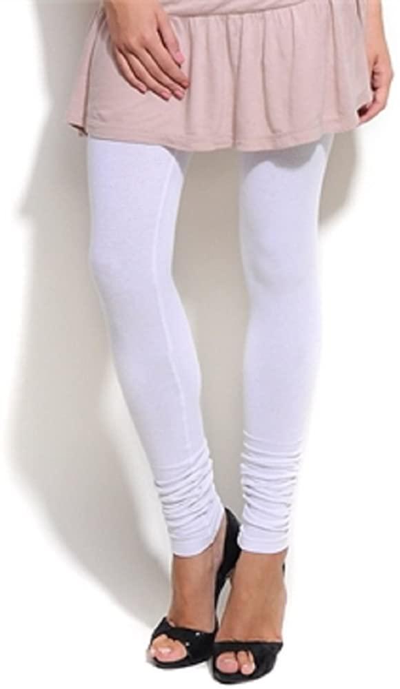 White Churidar Leggings and Dupatta Set