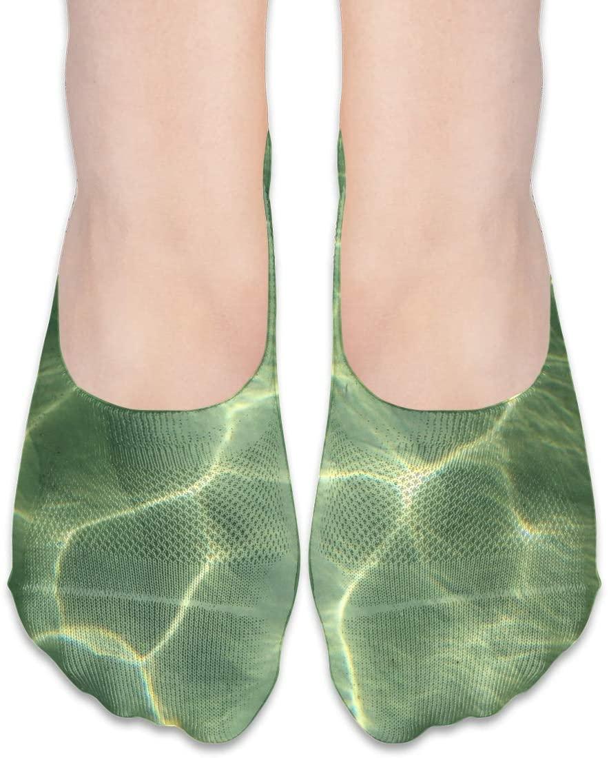 FriendEver No Show Socks,Nature Sand Ocean Sunlight Casual Invisible Flat Socks,Breathable Anti-Odor Low Cut Women Cotton Sox,Non Slip Liner Sock