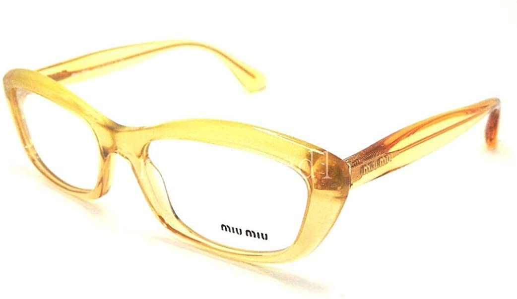 Miu Miu MU02MV Eyeglasses-PDA/1O1 Glitter Gradient Gold-52mm