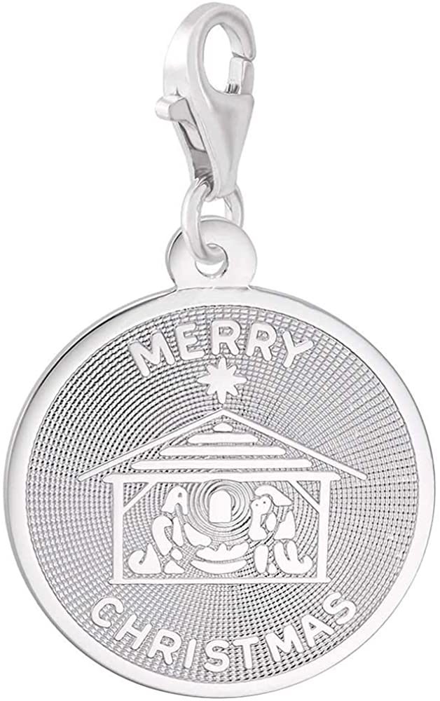 Rembrandt Charms Merry Christmas Charm with Lobster Clasp