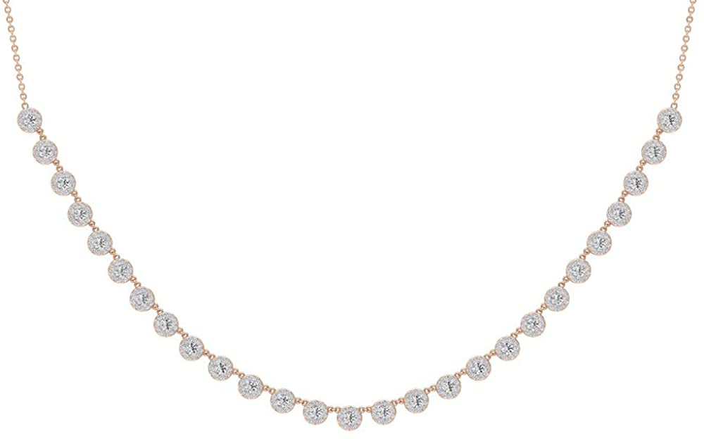 1.75CT Round Certified Diamond Cluster Bridal Statement Necklace, Antique Wedding Gold Engraved Smiley Shape Pendant, Vintage Anniversary Pendant Gift
