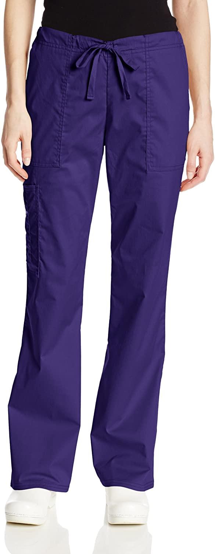 Cherokee Women's Workwear Core Stretch Drawstring Cargo Scrubs Pant, Grape, XXX-Large