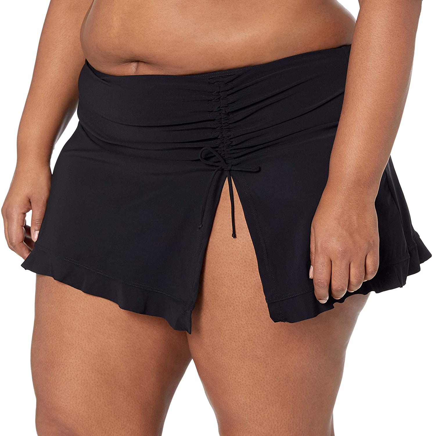 Profile by Gottex Women's Plus-Size Classic Side Tie Skirted Swimsuit Bottom