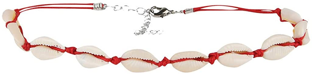 Heberry Women Necklaces Women Shell Necklace Seashell Adjustable Pendant Cord Bib Collar Jewelry