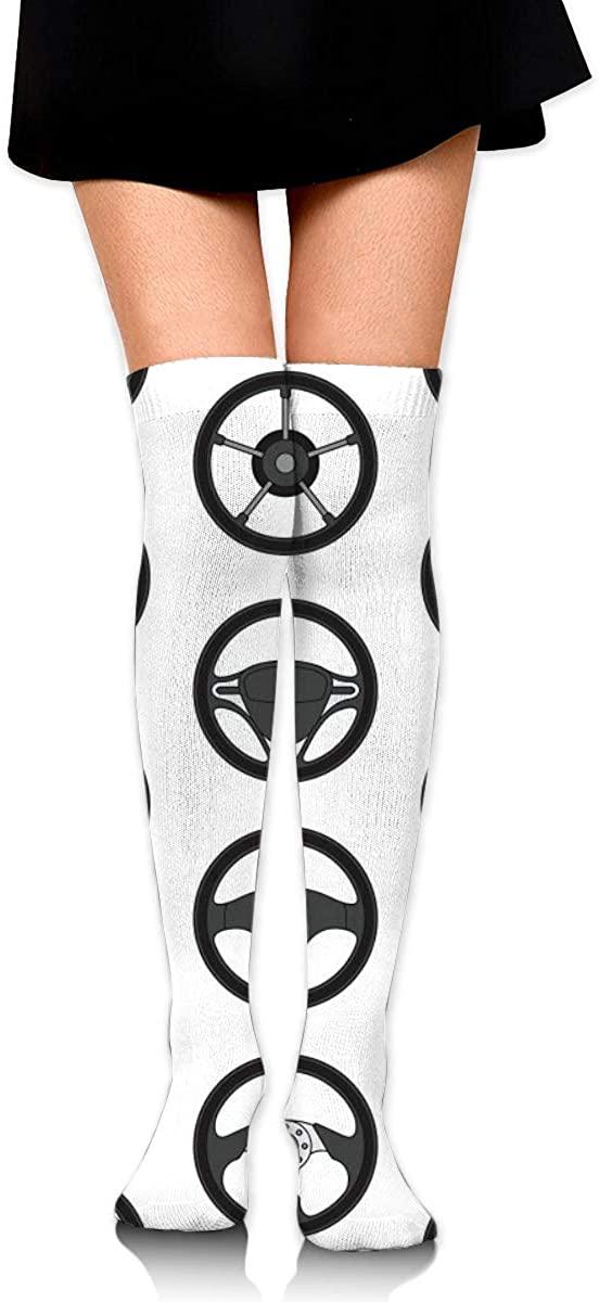 Dress Socks Car Steering Wheels Long Knee Hose Soccer Hold-Up Hiking Stockings