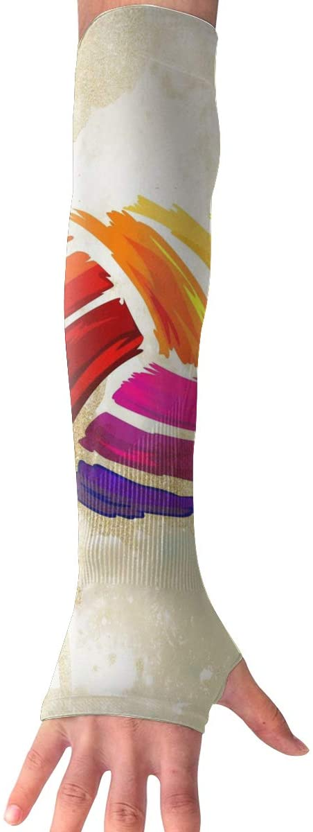 Game Life Colorful Volleyball UV Sun Protective Outdoors Stretchy Cool Arm Sleeves Warmer Long Fashion Sleeve Glove