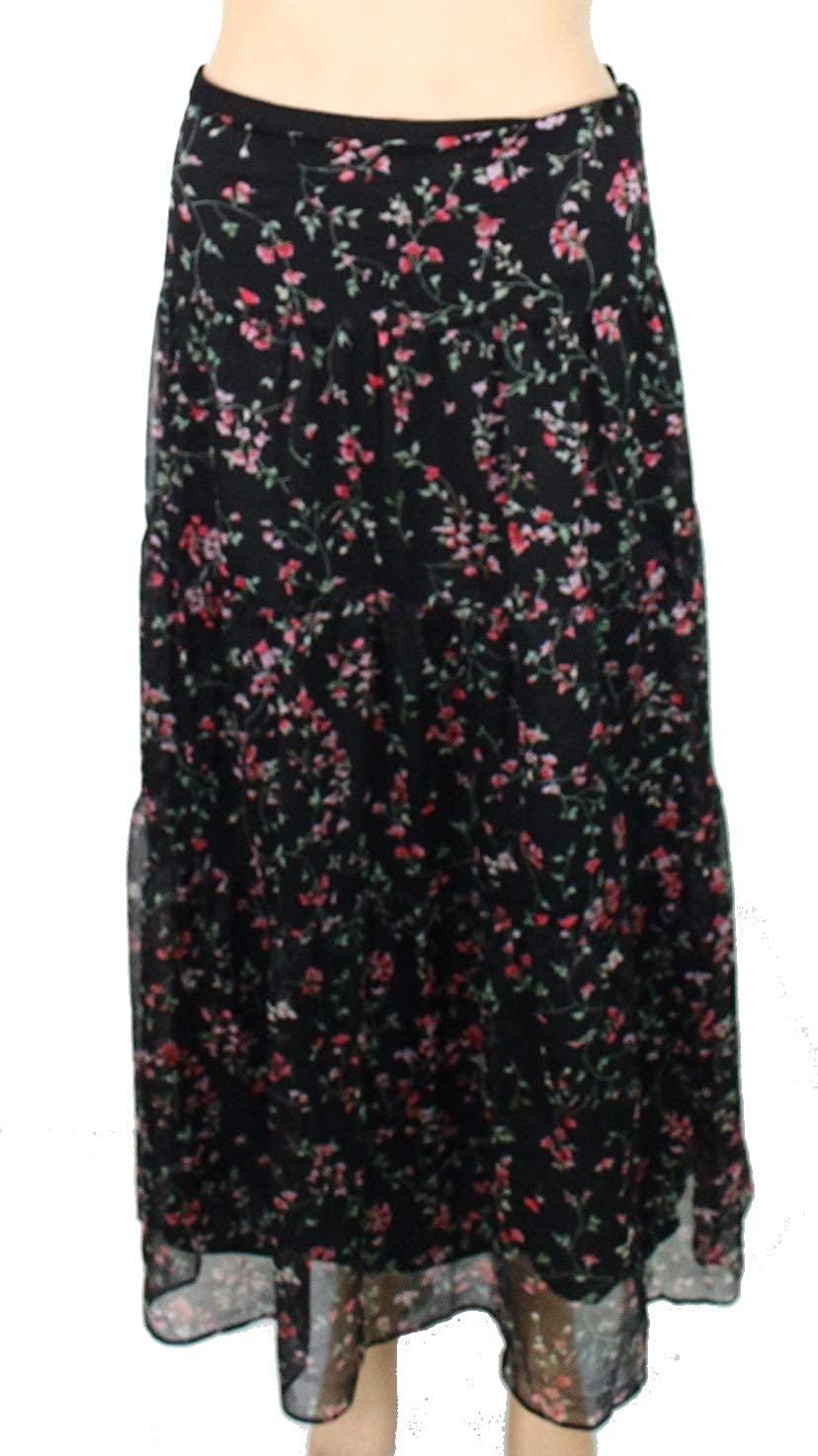 LAUREN RALPH LAUREN Womens Plus Pauldina Chiffon Floral Print Maxi Skirt