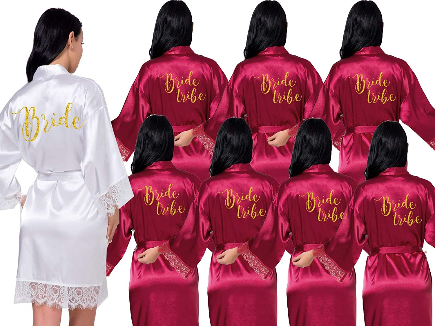 Lace Bridal Robe Bride Gift Robes Bridal Shower Gift Set of 5,8,10 Robes(S-XXL