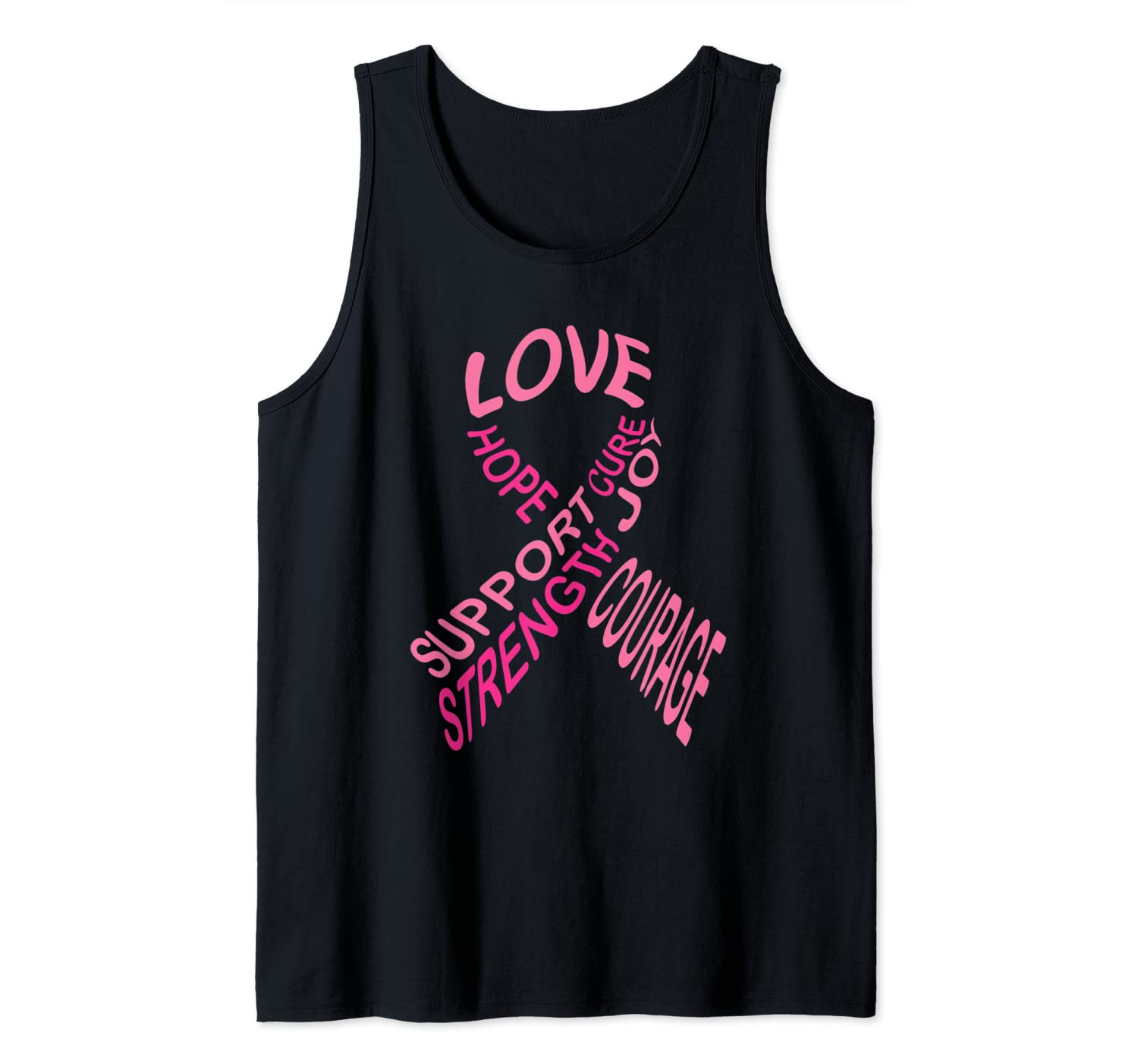 Breast Cancer Awareness Fight Cancer Ribbon Tank Top