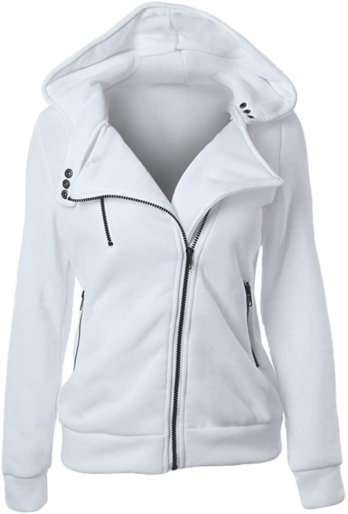 Romacci Women Full Zip Hoodie Sweatshirt Long Sleeve Hooded Winter Coat Jacket