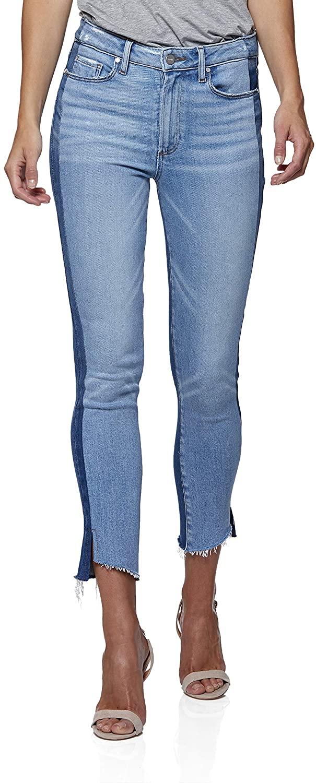 PAIGE Women's Hoxton Vintage Two Tone Slim Fit Ankle Jean