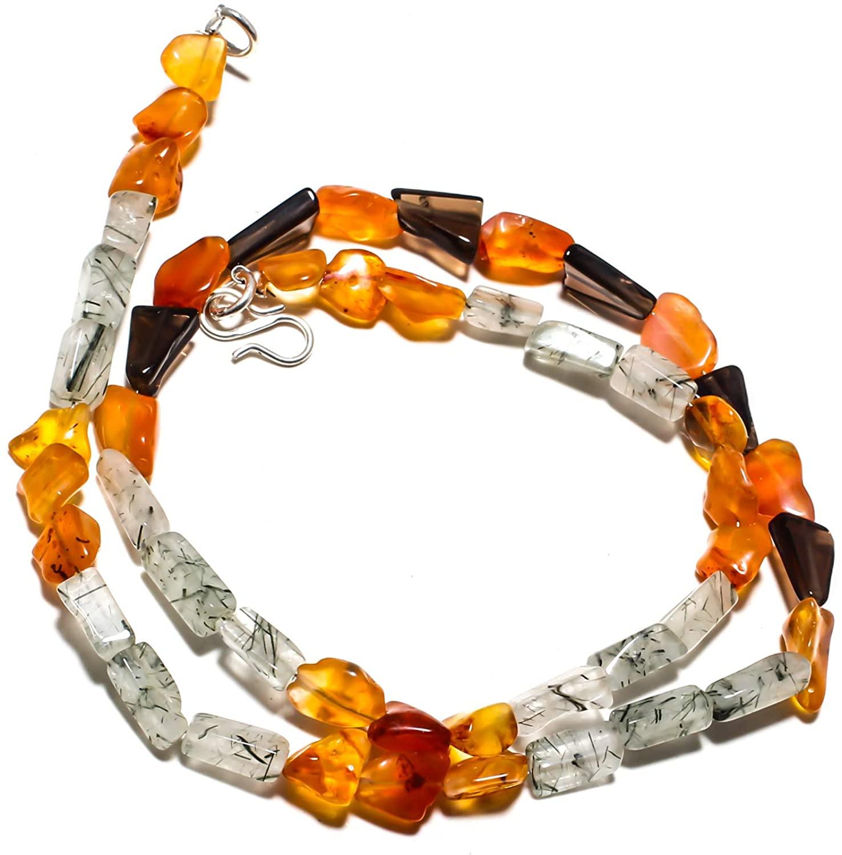 kanta incorporation Carnelian Natural Gemstone Beads Jewelry Necklace 17