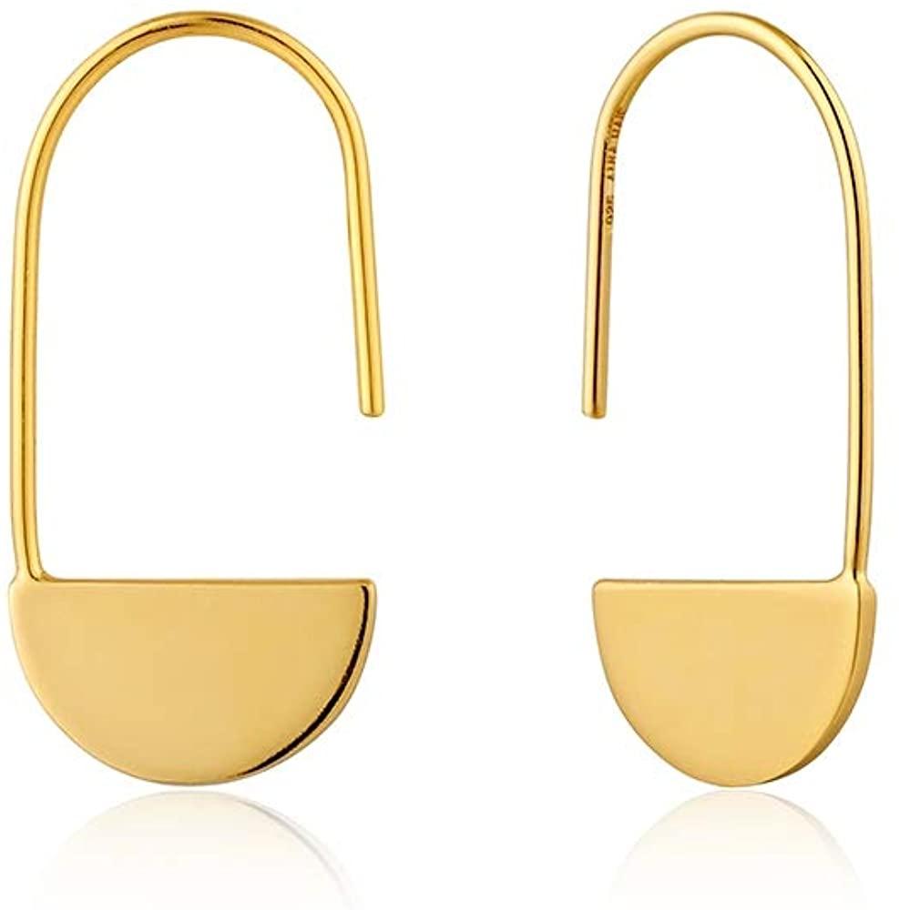 Ania Haie, Geometry Semi Circle Drop Earrings