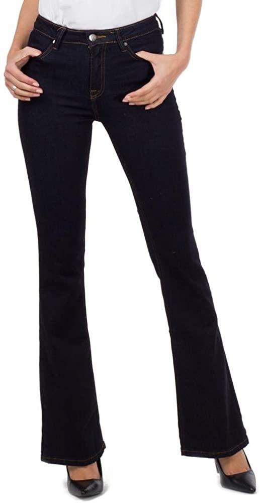 Flared Denim Bootcut Jeans - Indigo