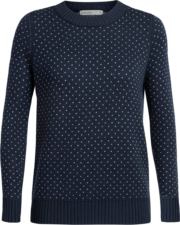 Icebreaker Women's Waypoint Crewe Sweater Midnight Navy XS