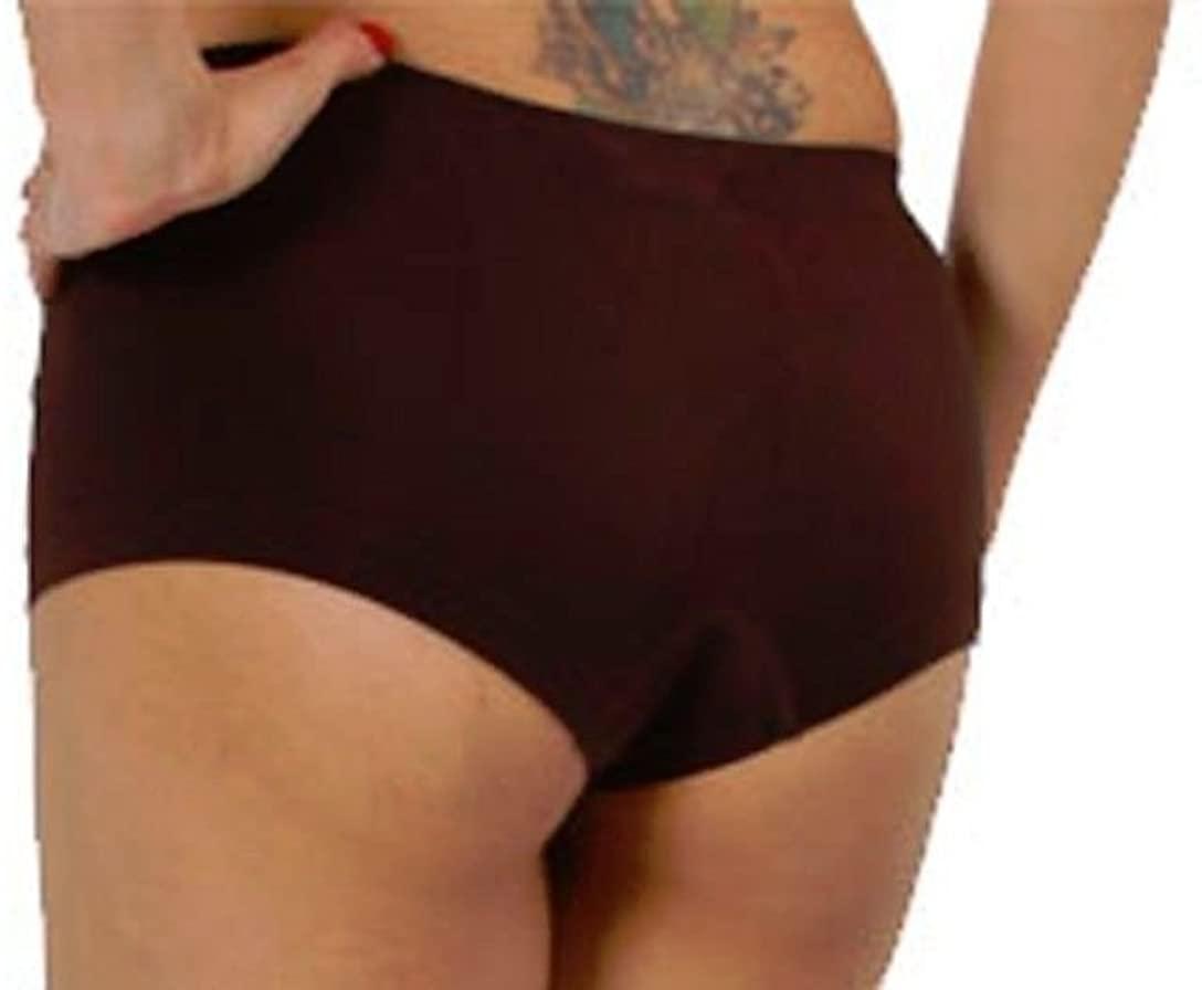 New Sexy Brown Booty Seamless Boy Shorts Sports Yoga Dancer Bikini Panty O/S