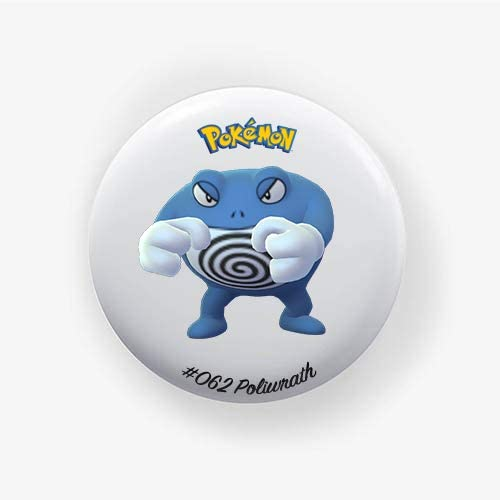 Poliwrath #062 : Go, Pinback Button Badge 1.50 Inch (38mm)