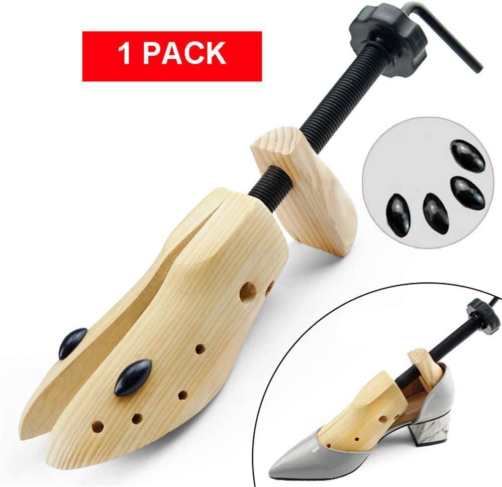 ZJDU Adjustable Shoe Expander Stretcher,Premium Professional 2-Way Shoe Stretcher,Wood Shoe Stretcher Shoe Widener Expander,for Men Or Women,S,1 Pack