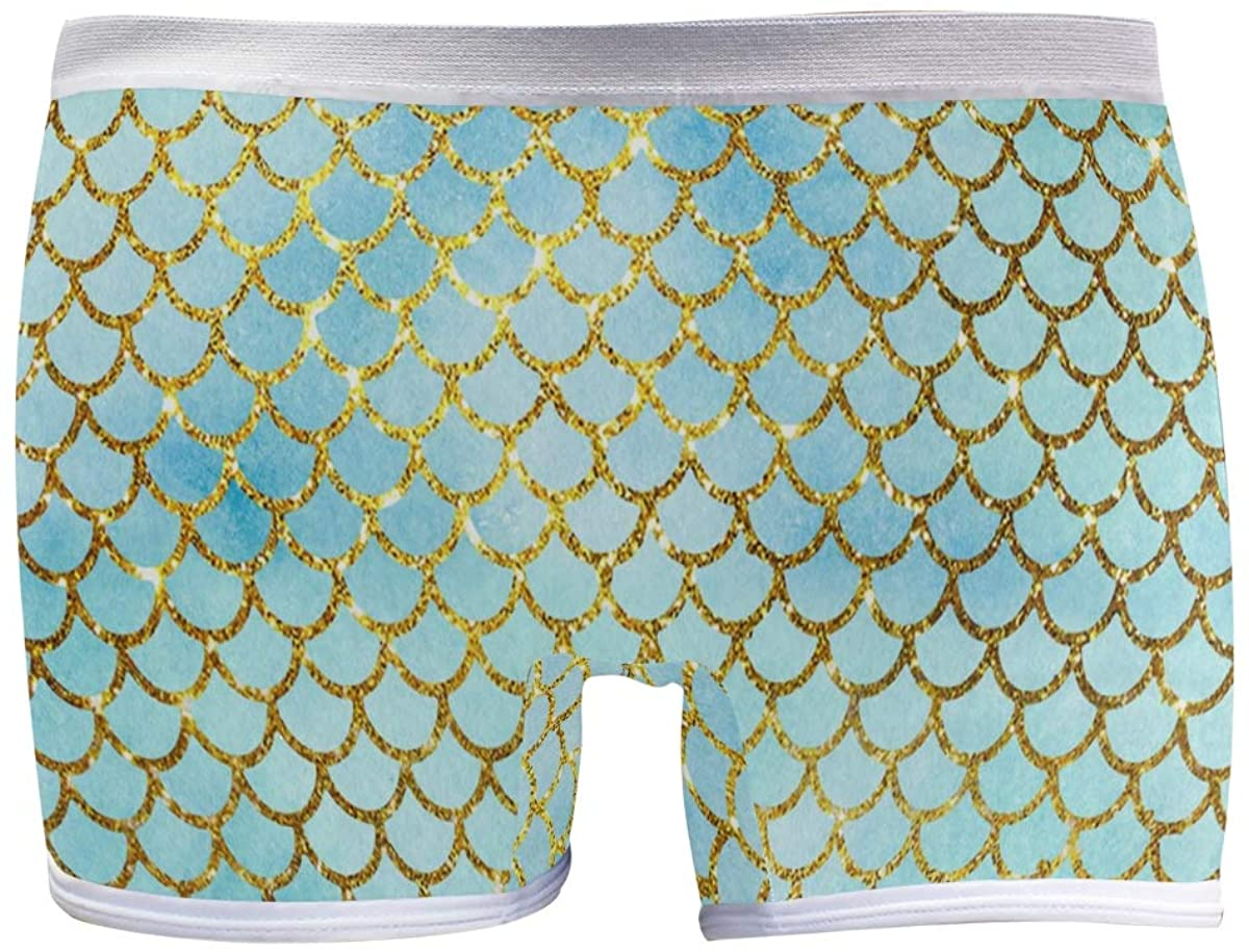 XUWU Women's Boyshort Panties Mermaid Scales Soft Underwear Boxer Briefs