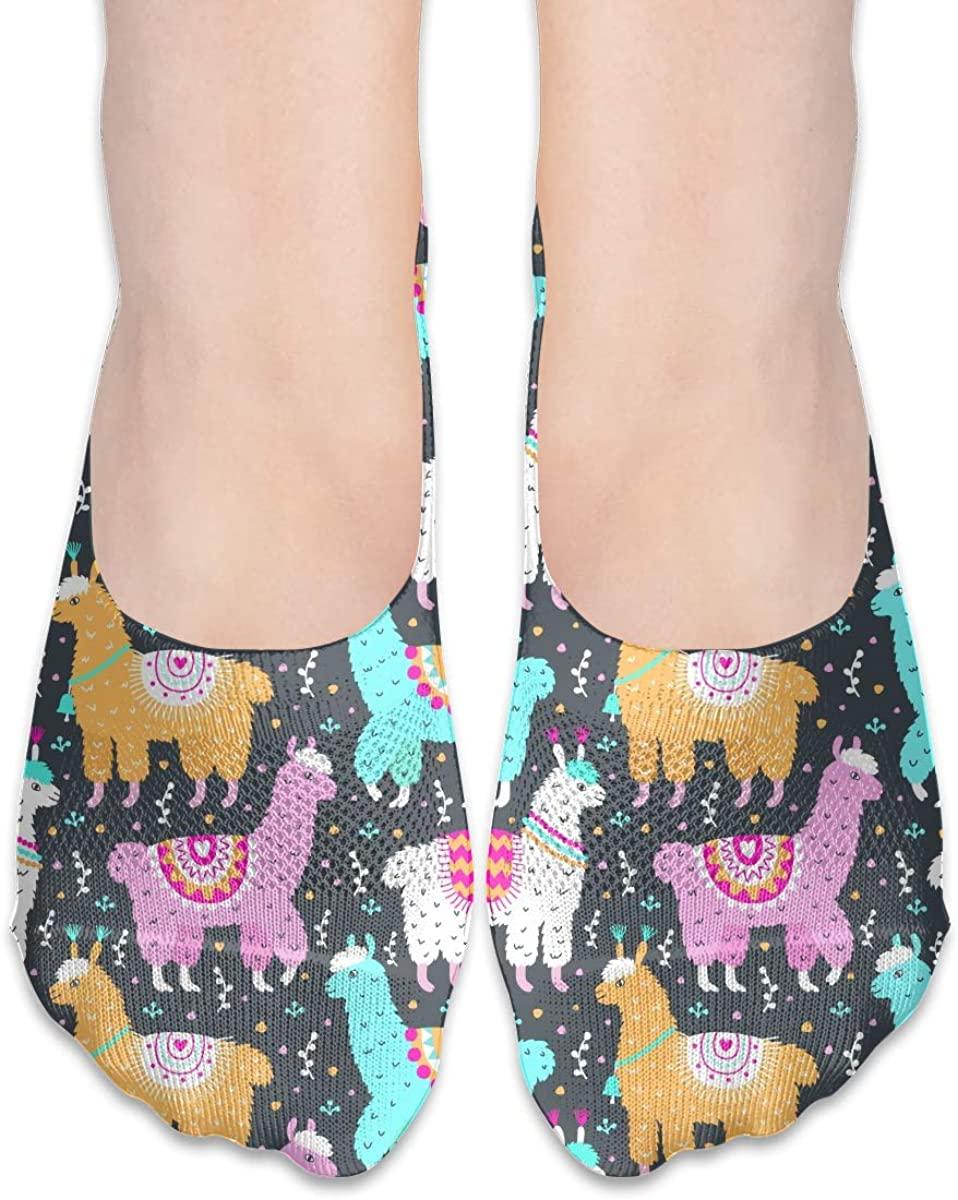 No Show Socks For Women Llama Alpaca Low Cut Sock Liners Invisible Socks