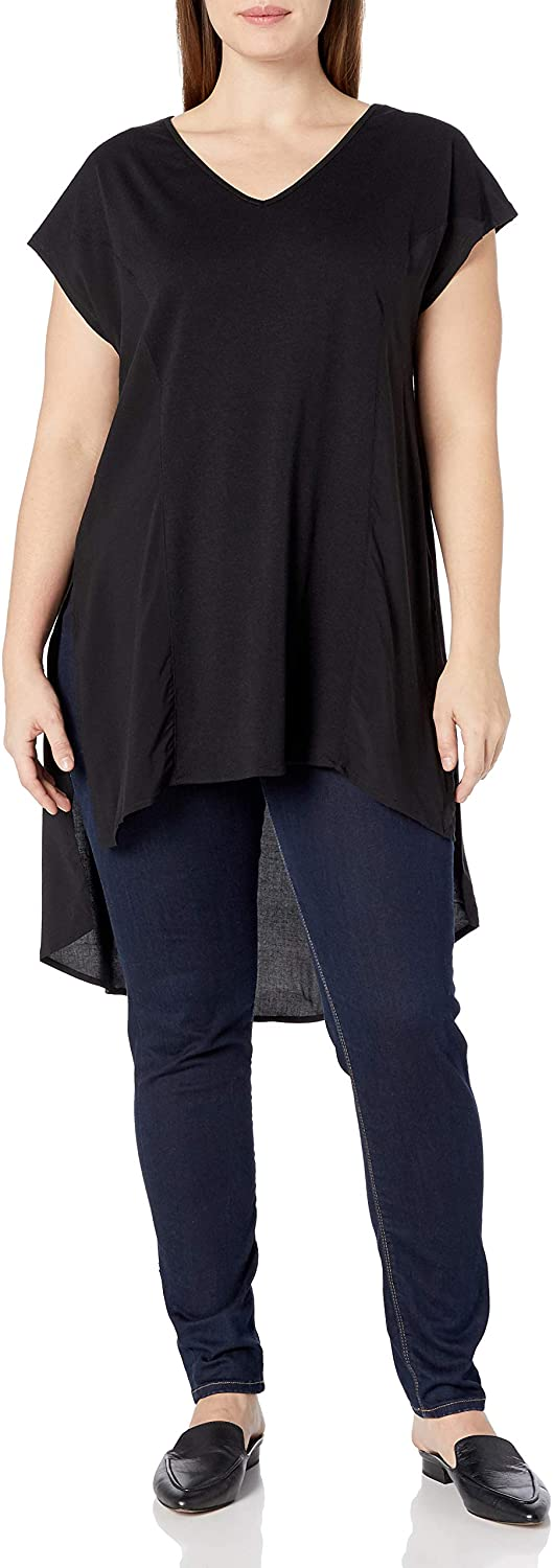 City Chic Women's Apparel Women's Plus Size Hi-lo Hemmed Top with Side Split