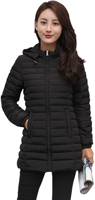 Flygo Womens Ultra Light Weight Hooded Down Coat Puffer Jacket Outerwear