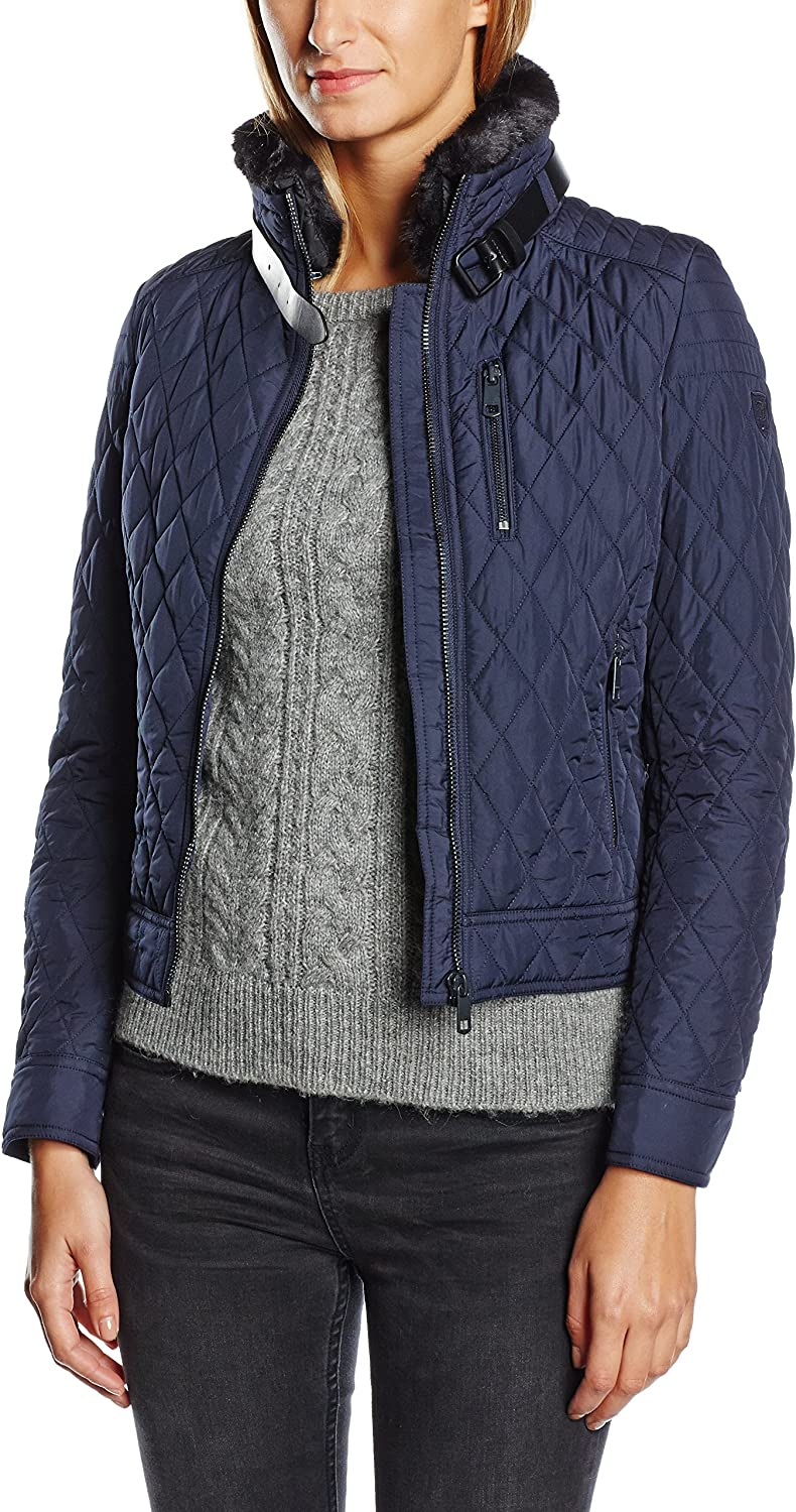 Tommy Hilfiger Womens Tess Quilted Long Sleeve Coat