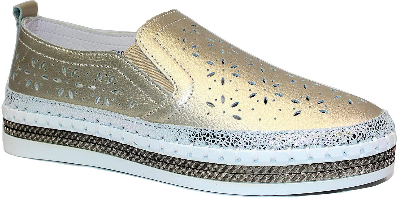 Bernie Mev Women's TW99 Slip-on Leather Shoes