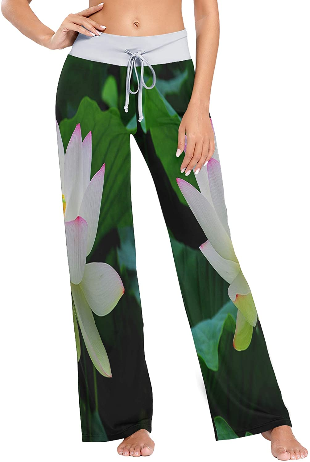 SLHFPX Womens Pajama Lounge Pants Taj Mahal Palace Colorful Oil Painting Wide Leg Casual Palazzo Pj Sleep Pants Girls
