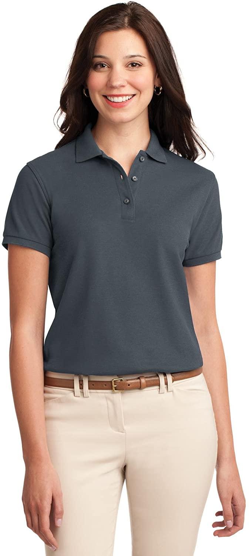 XtraFly Apparel Women's Silk Touch Polo Shirt L500 Steel Grey