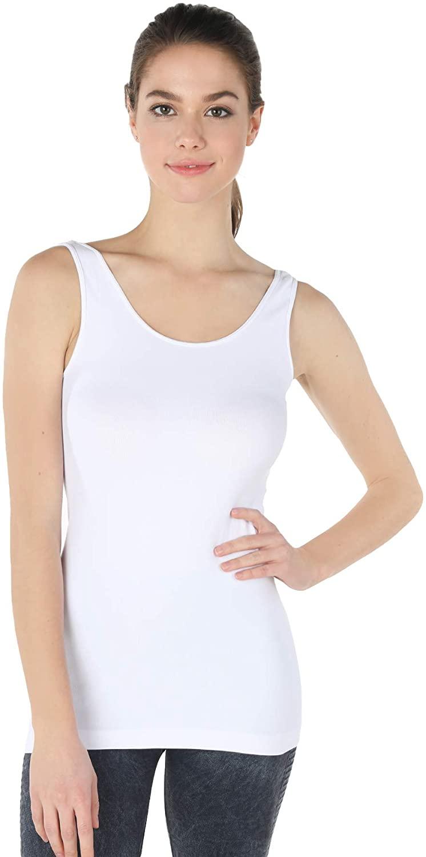 NIKIBIKI Women Seamless Premium Classic Tank Top, Made in U.S.A, One Size