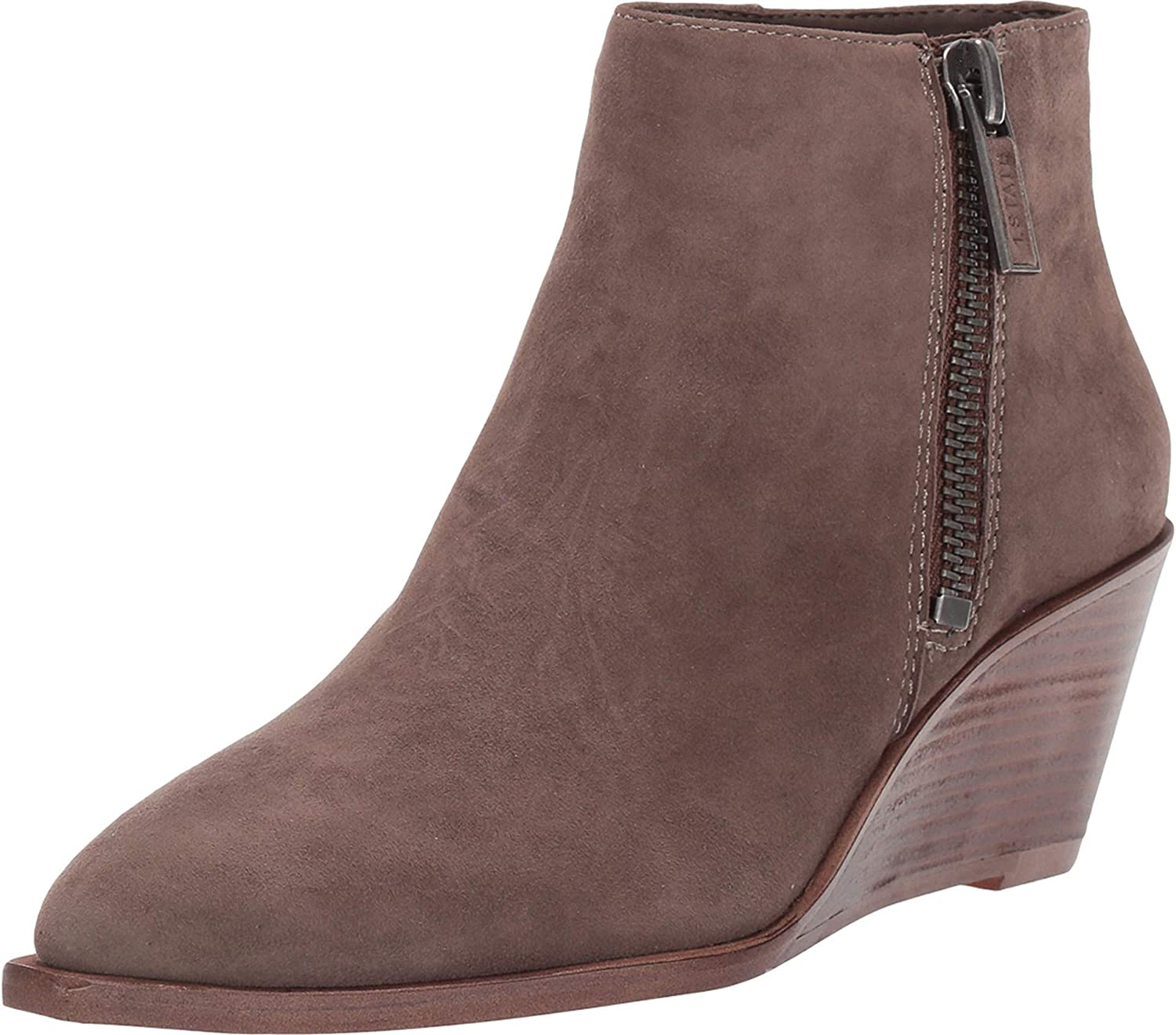 1.STATE Womens Kipp Suede Flocked Wedge Boots