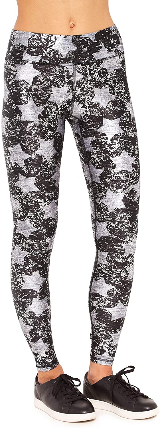 Terez Womens Camouflage Metallic Leggings