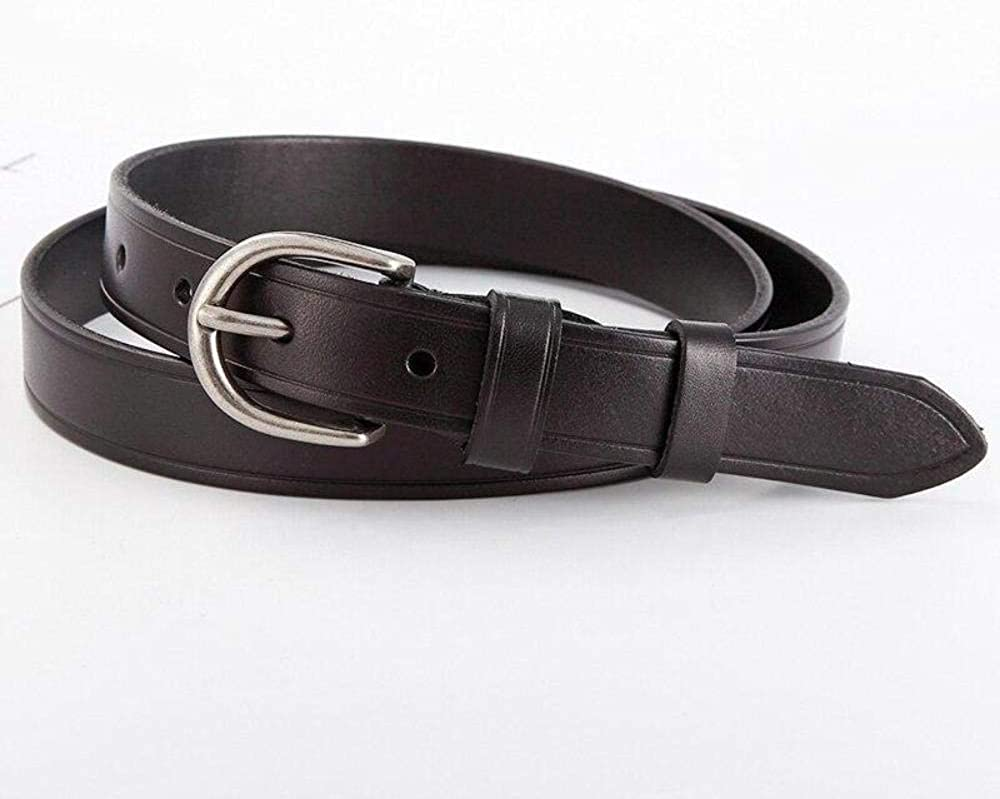 Women Cowhide Genuine Leather Belt For Girl Female Business Pin Buckle Waistband Strap Casual Belt Fashion Jeans