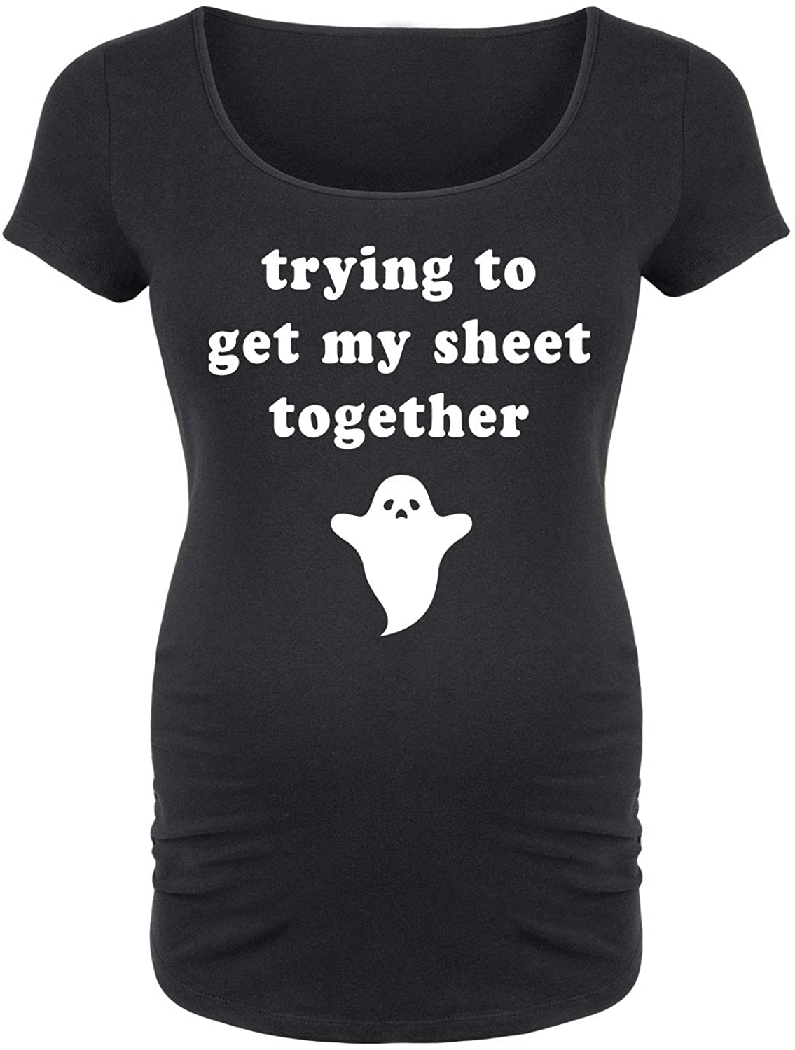 Get My Sheet Together - Maternity Scoop Neck Tee