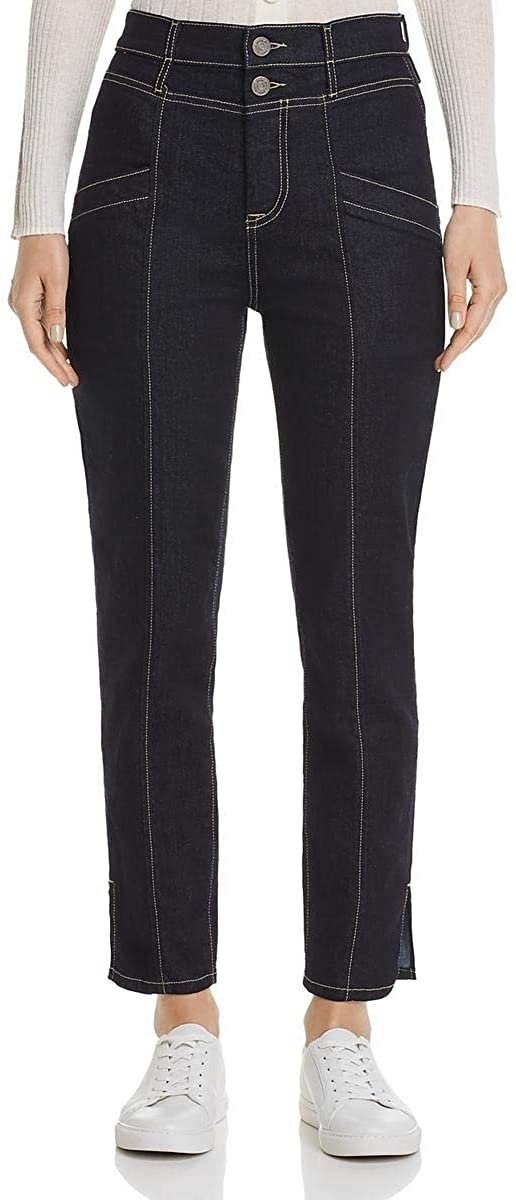 Joie Womens Aelicia Denim Cropped Straight Leg Jeans